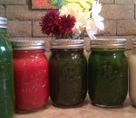 Small Fresh Juice Jars